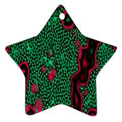 Reaction Diffusion Green Purple Ornament (star)