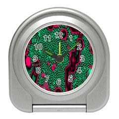 Reaction Diffusion Green Purple Travel Alarm Clocks