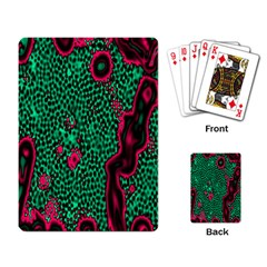 Reaction Diffusion Green Purple Playing Card