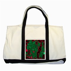 Reaction Diffusion Green Purple Two Tone Tote Bag