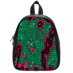 Reaction Diffusion Green Purple School Bags (Small)