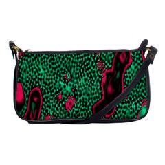 Reaction Diffusion Green Purple Shoulder Clutch Bags
