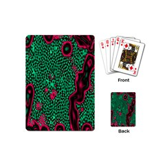 Reaction Diffusion Green Purple Playing Cards (Mini)