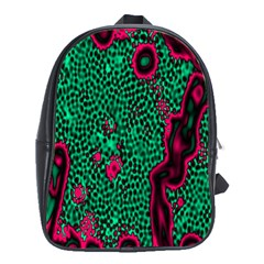 Reaction Diffusion Green Purple School Bags (XL)