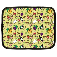 Wine Cheede Fruit Purple Yellow Netbook Case (XXL)