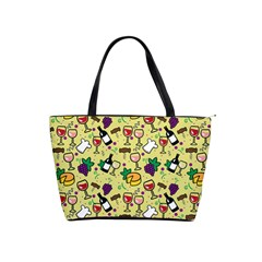Wine Cheede Fruit Purple Yellow Shoulder Handbags