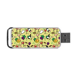 Wine Cheede Fruit Purple Yellow Portable USB Flash (One Side)