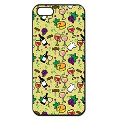 Wine Cheede Fruit Purple Yellow Apple iPhone 5 Seamless Case (Black)