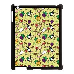 Wine Cheede Fruit Purple Yellow Apple iPad 3/4 Case (Black)