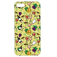 Wine Cheede Fruit Purple Yellow Apple iPhone 5 Hardshell Case with Stand