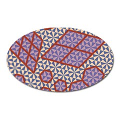 Triangle Plaid Circle Purple Grey Red Oval Magnet