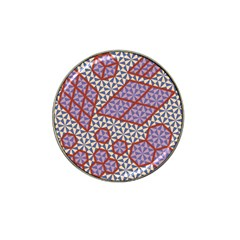 Triangle Plaid Circle Purple Grey Red Hat Clip Ball Marker (4 pack)