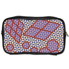 Triangle Plaid Circle Purple Grey Red Toiletries Bags