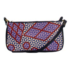 Triangle Plaid Circle Purple Grey Red Shoulder Clutch Bags