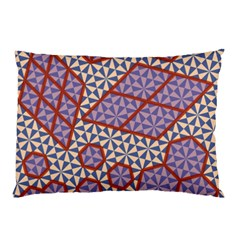 Triangle Plaid Circle Purple Grey Red Pillow Case (Two Sides)