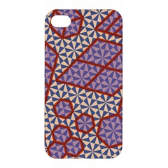 Triangle Plaid Circle Purple Grey Red Apple iPhone 4/4S Hardshell Case