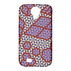 Triangle Plaid Circle Purple Grey Red Samsung Galaxy S4 Classic Hardshell Case (PC+Silicone)