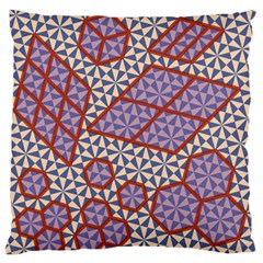Triangle Plaid Circle Purple Grey Red Large Flano Cushion Case (One Side)