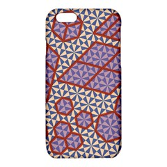 Triangle Plaid Circle Purple Grey Red iPhone 6/6S TPU Case