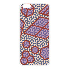 Triangle Plaid Circle Purple Grey Red Apple Seamless iPhone 6 Plus/6S Plus Case (Transparent)