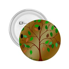 Tree Root Leaves Contour Outlines 2.25  Buttons