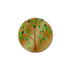 Tree Root Leaves Contour Outlines Golf Ball Marker (10 Pack)