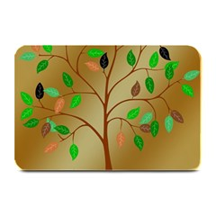 Tree Root Leaves Contour Outlines Plate Mats