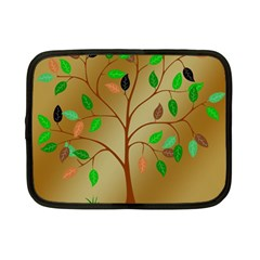 Tree Root Leaves Contour Outlines Netbook Case (small)