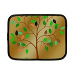 Tree Root Leaves Contour Outlines Netbook Case (Small)  Front