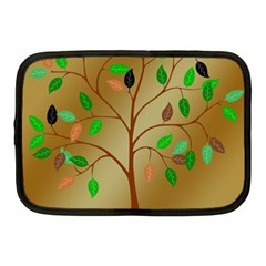 Tree Root Leaves Contour Outlines Netbook Case (medium)