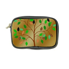 Tree Root Leaves Contour Outlines Coin Purse