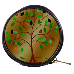 Tree Root Leaves Contour Outlines Mini Makeup Bags
