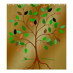 Tree Root Leaves Contour Outlines Shower Curtain 66  X 72  (large)