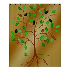 Tree Root Leaves Contour Outlines Shower Curtain 60  X 72  (medium)