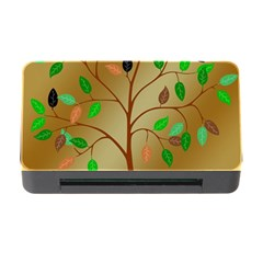 Tree Root Leaves Contour Outlines Memory Card Reader with CF