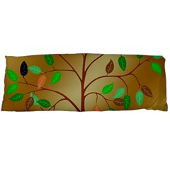 Tree Root Leaves Contour Outlines Body Pillow Case Dakimakura (Two Sides)