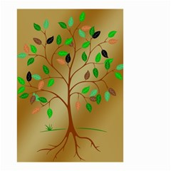 Tree Root Leaves Contour Outlines Small Garden Flag (Two Sides)