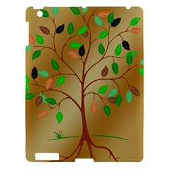 Tree Root Leaves Contour Outlines Apple iPad 3/4 Hardshell Case
