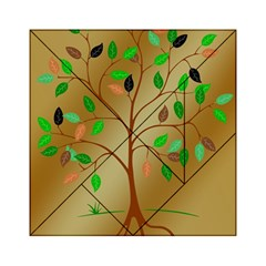 Tree Root Leaves Contour Outlines Acrylic Tangram Puzzle (6  x 6 )