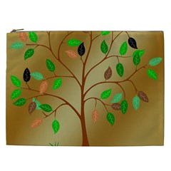 Tree Root Leaves Contour Outlines Cosmetic Bag (XXL)