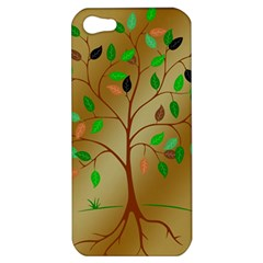 Tree Root Leaves Contour Outlines Apple iPhone 5 Hardshell Case
