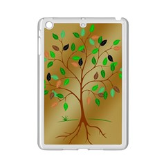 Tree Root Leaves Contour Outlines iPad Mini 2 Enamel Coated Cases