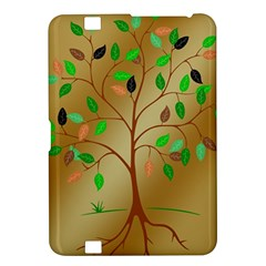 Tree Root Leaves Contour Outlines Kindle Fire HD 8.9