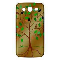 Tree Root Leaves Contour Outlines Samsung Galaxy Mega 5.8 I9152 Hardshell Case
