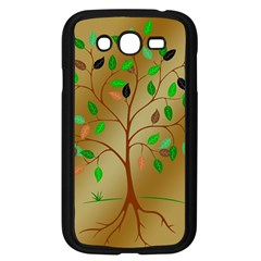 Tree Root Leaves Contour Outlines Samsung Galaxy Grand DUOS I9082 Case (Black)