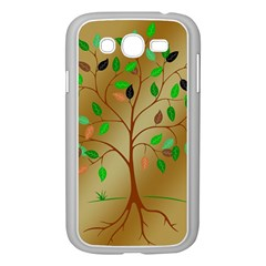 Tree Root Leaves Contour Outlines Samsung Galaxy Grand DUOS I9082 Case (White)