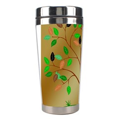 Tree Root Leaves Contour Outlines Stainless Steel Travel Tumblers
