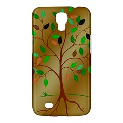 Tree Root Leaves Contour Outlines Samsung Galaxy Mega 6.3  I9200 Hardshell Case