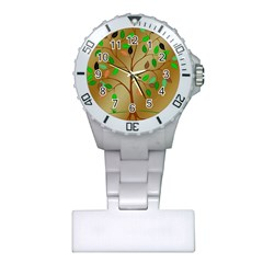 Tree Root Leaves Contour Outlines Plastic Nurses Watch