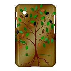 Tree Root Leaves Contour Outlines Samsung Galaxy Tab 2 (7 ) P3100 Hardshell Case
